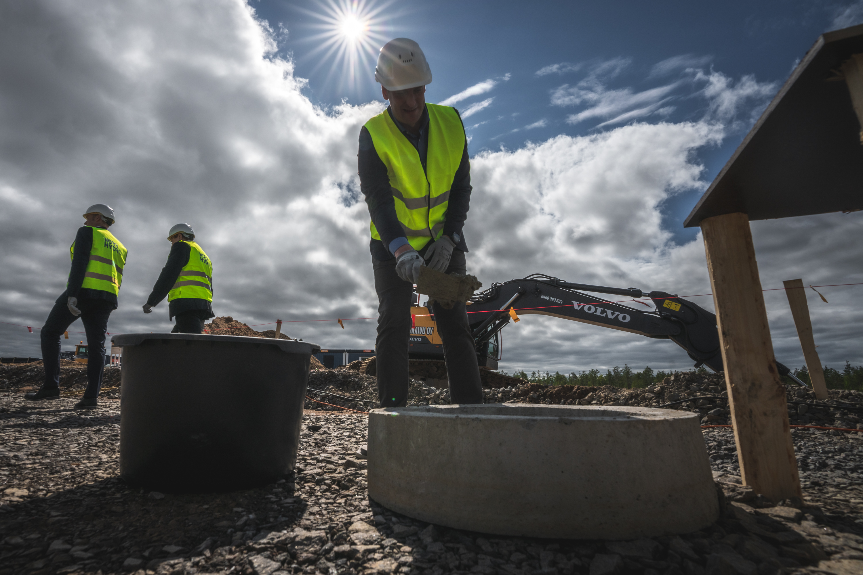 The foundation stone of Norrhydro's new production facility was laid in Rovaniemi